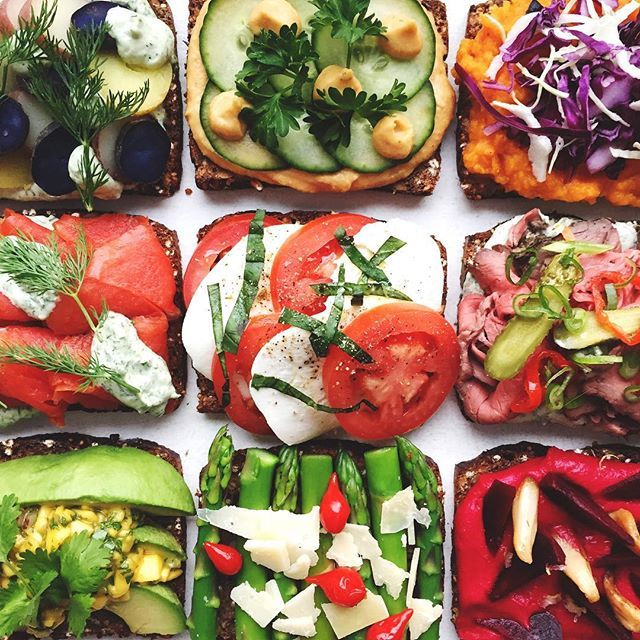 Danish Open-faced Sandwiches With Summer-inspired Toppings