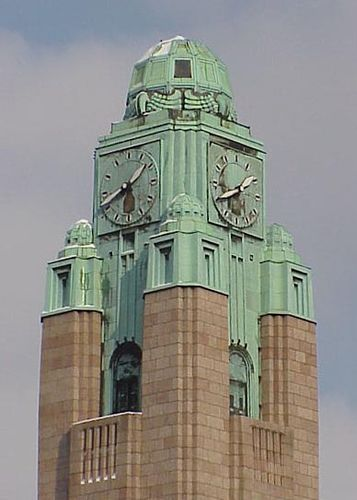 Art Deco Helsinki Railway Station, Clock Tower by dct66. @Deidré Wallace