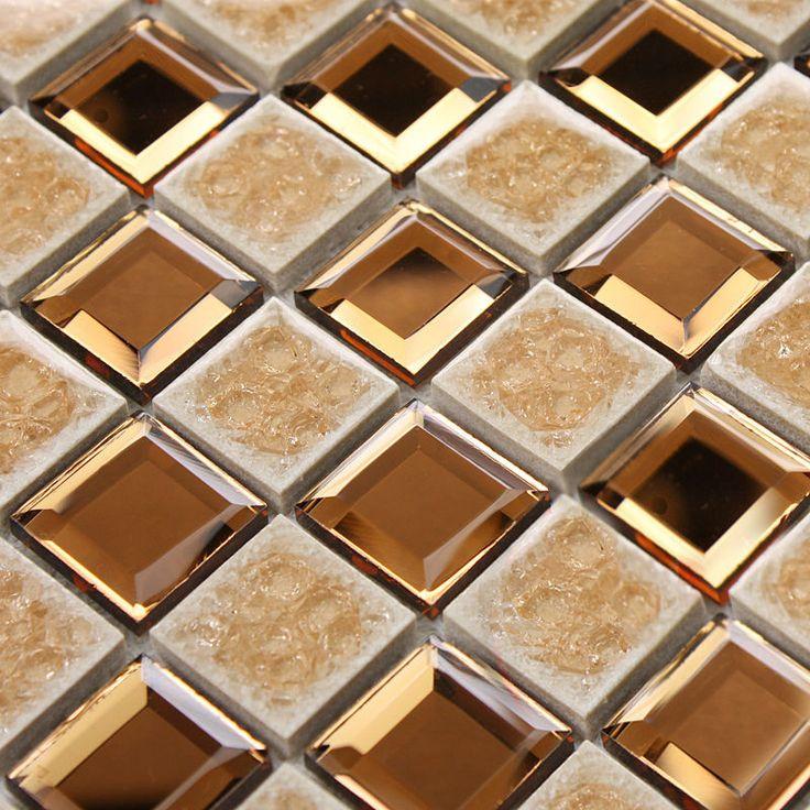 plating slip mosaic mirror bathroom wall mirror tiles backsplash