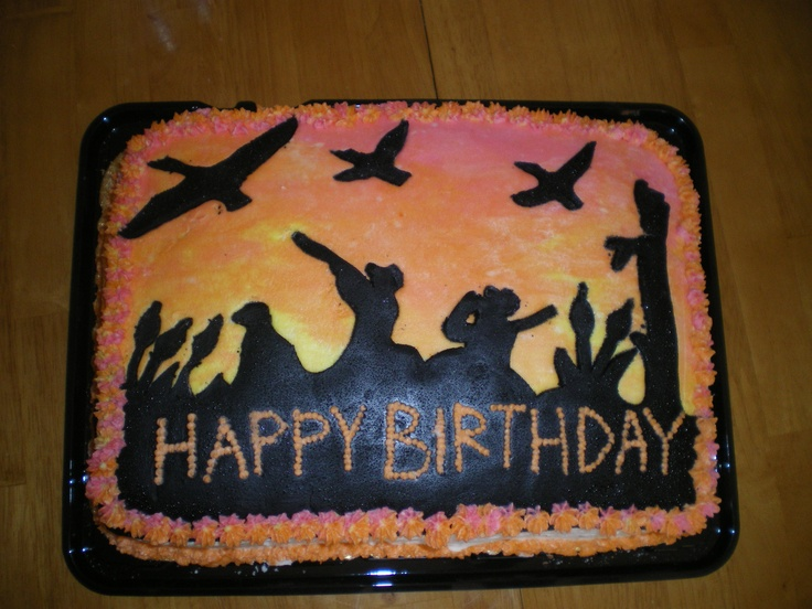 Hunting Scene Cake Decorations : 17 Best images about Duck hunting on Pinterest Duck cake ...