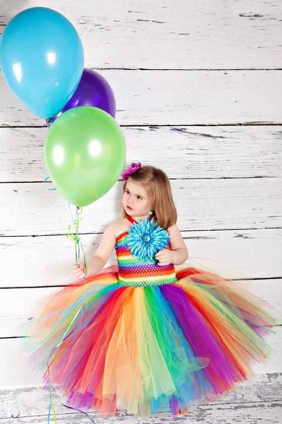 Rainbow flower-girls or bridesmaids. | 23 Super Cute Lesbian Wedding Ideas
