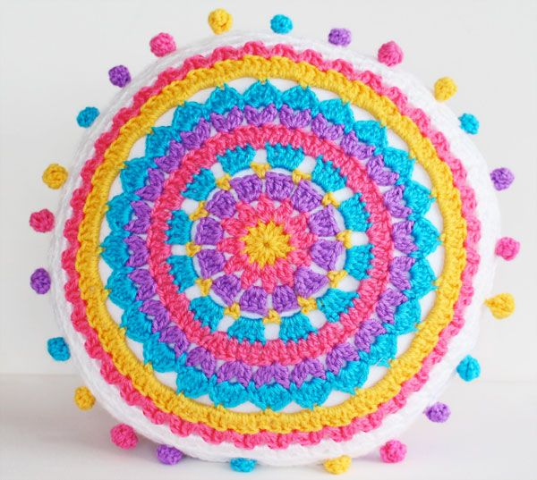 Check out this colorful Carnival Brights cushion tutorial by My Poppet.  A great stash buster project.