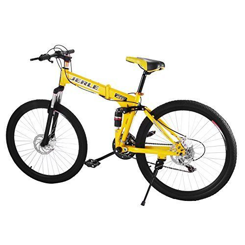 BestEquip Folding Mountain Bike 26 Inch 21 Speed Dual Disc Brakes Folding Bicycle High Carbon Steel Mountain Bike (standard wheel) -- Want to know more, click on the image.
