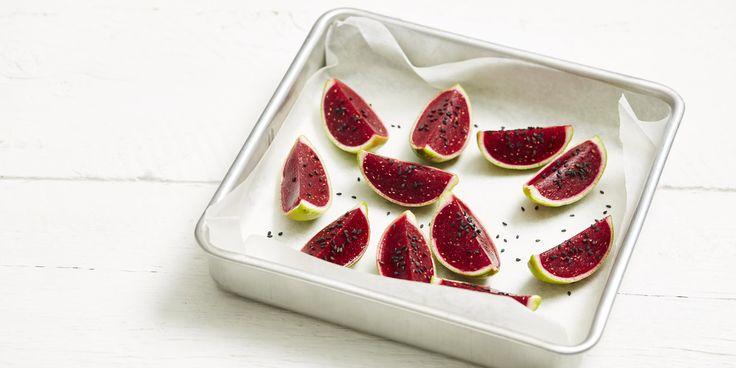 """Watermelon"" Bites via @iquitsugar"