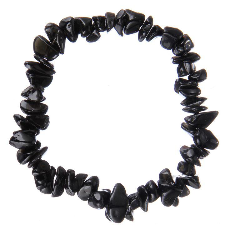 Bracelet Printemps/été -#Perles Pierre Naturelle pour femmes-couleur #noir