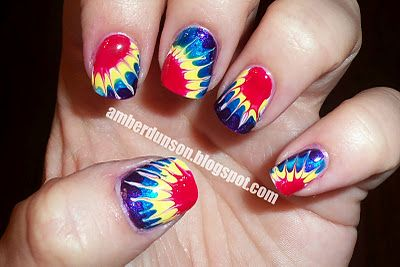 tie dyeTies Dyes Tutorials, Ties Dyes Nails, Nails Art Dyes, Dyed Nails, Awesome Nails, Amber, Pretty Nails, Tie Dye Nails, Tye Dyes