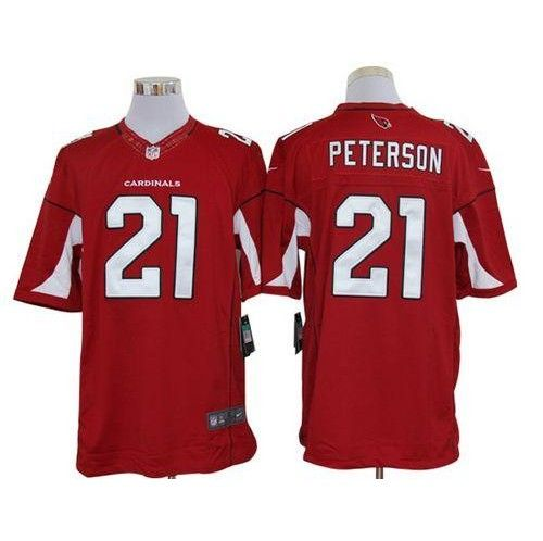 nike arizona cardinals 21 patrick peterson red team color mens stitched nfl limited jersey