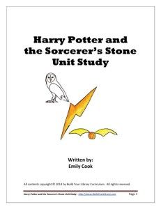 harry potter unit study for book one.....would be great to do during a summer I think, or break...have lots of extra looking stuff for kids to do (make their own newspaper, study plants, make a wand, etc)