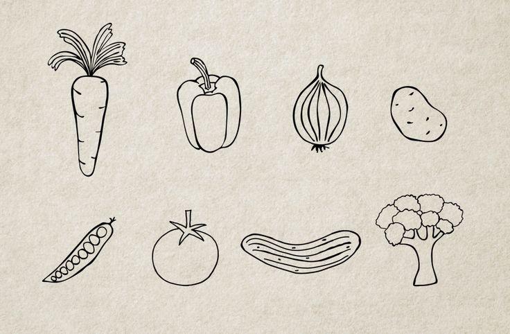 Handmade Illustrations: Vegetables