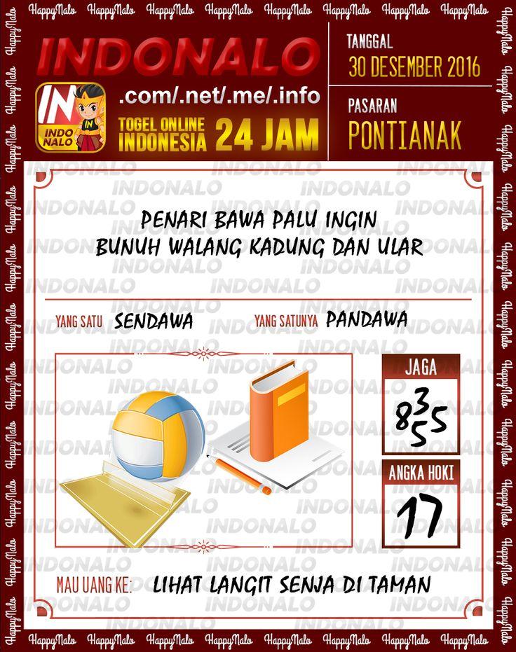Kode Lotre 3D Togel Wap Online Live Draw 4D Indonalo Pontianak 30 Desember 2016