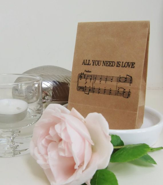 BEATLES MUSIC-Wedding Favor Bags-Wedding by IzzyandLoll on Etsy