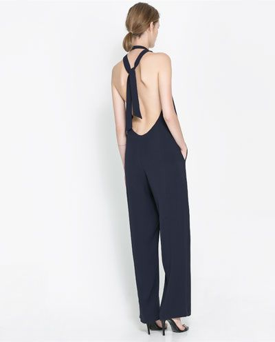 INSANE backless jumpsuit from Zara. @Zara Lamey Lamey #zara #jumpsuit #fall2013