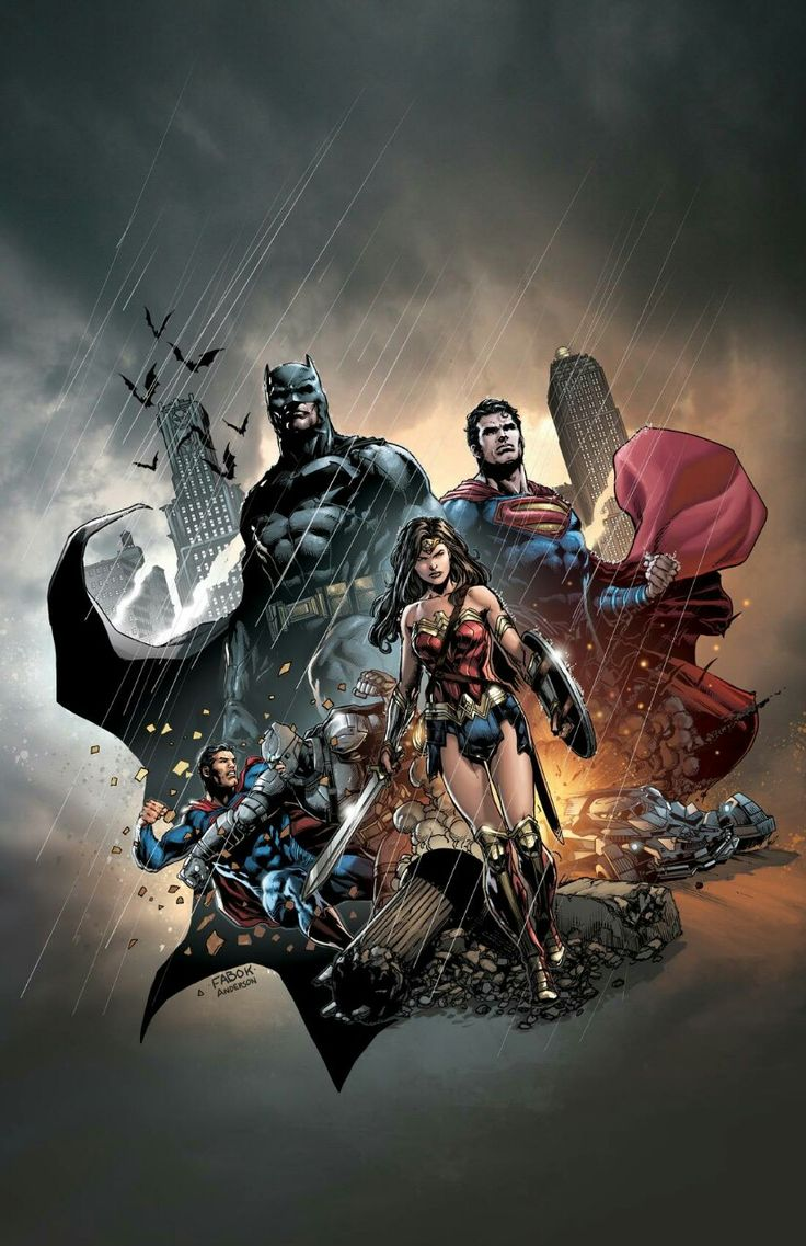 Batman, Wonder Woman and Superman.