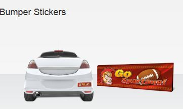"#Bumper_Stickers come in a wide variety of standard sizes to accommodate popular looks and uses. car bumpers are 10"" x 3"" and 8.5"" x 3.5"".  http://www.blackpineprinting.com/products/bumperstickers-digital"