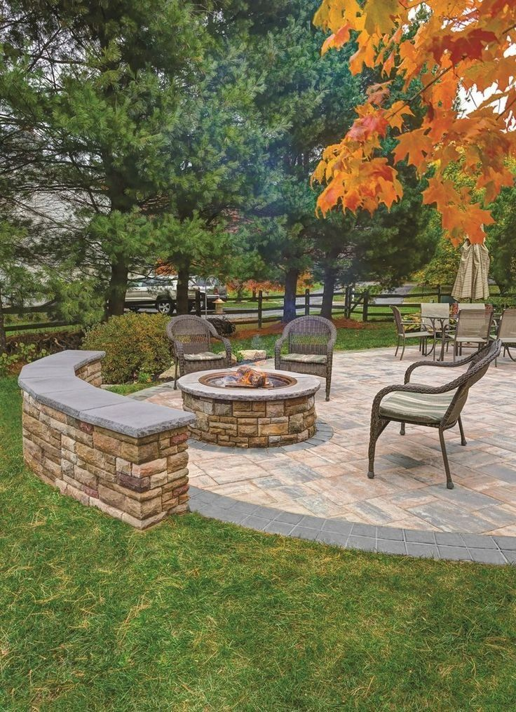 60 Small Paver Patio Ideas Pictures with Fire Pit # ... on Pavers Patio With Fire Pit id=28632