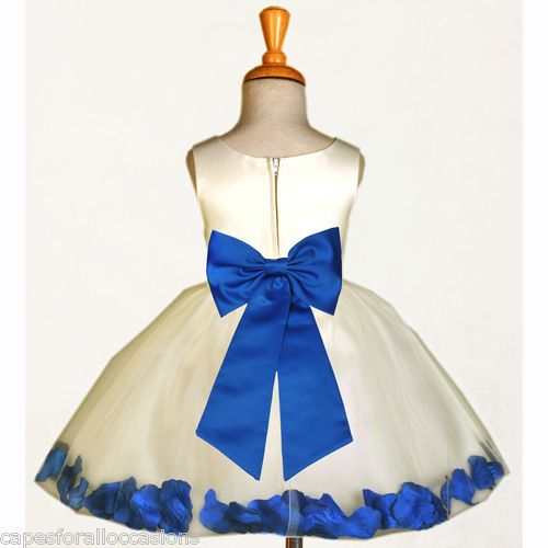 1000  images about Flower girls on Pinterest - Satin- Royal blue ...