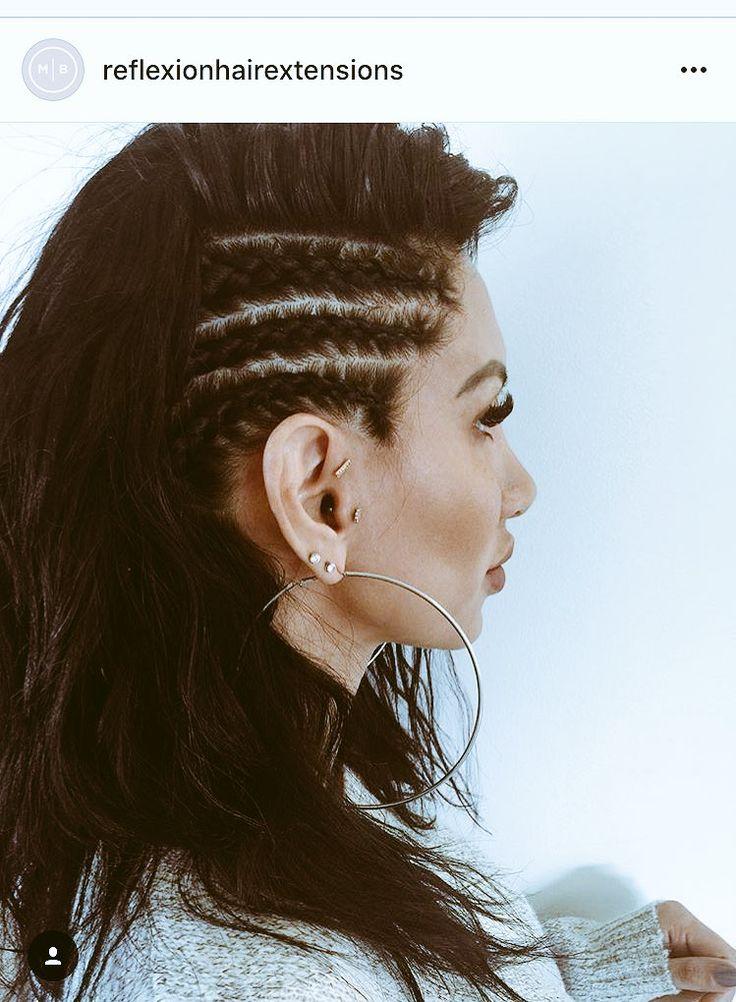 This would be a fun concert hairstyle #braid #halfup #reflexionhair…