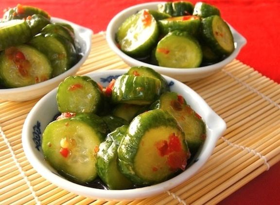 """Post image for Spicy Pickled Cucumbers (and a bonus, quick """"Chinese Food Tour!"""")"""