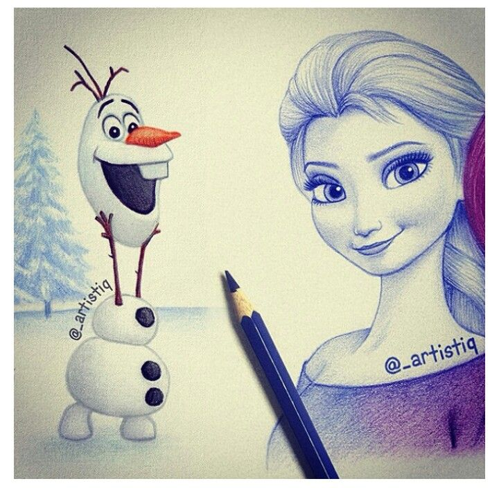 Frozen drawings, Love is and Elsa on Pinterest