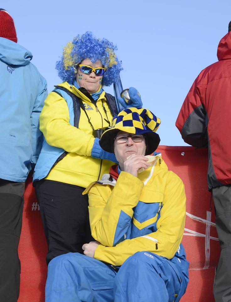 Besökare vid Skid-VM 2015 i Falun