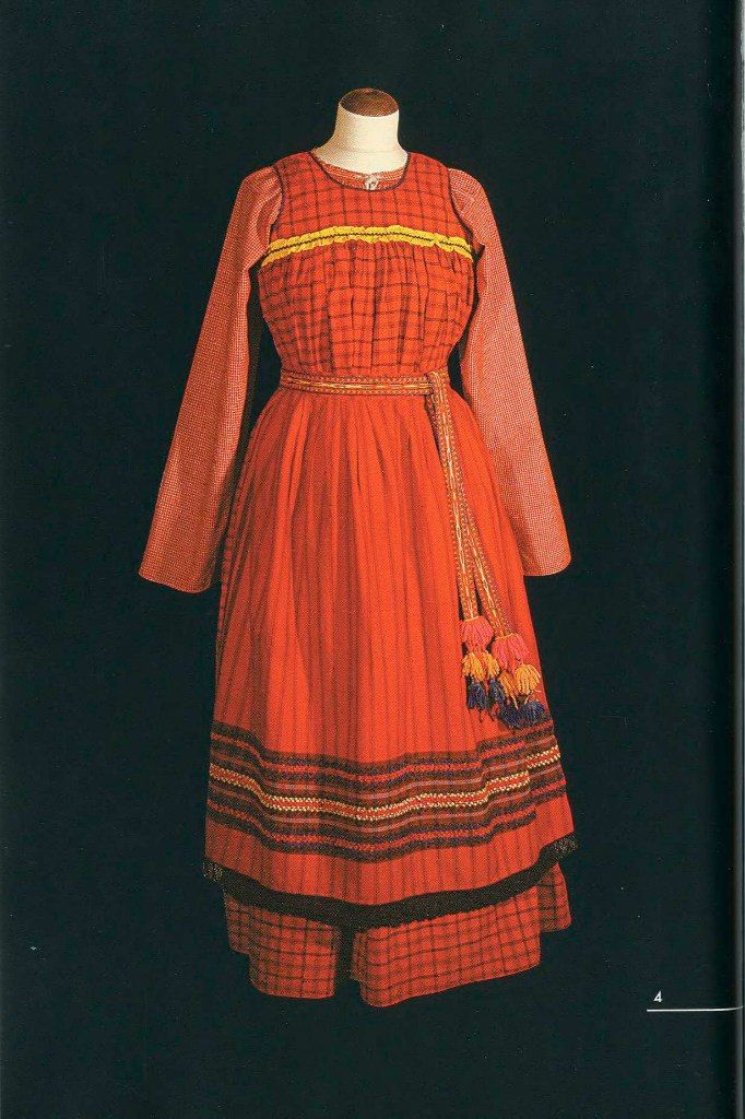HOLIDAY SUIT YOUNG WOMAN It consists of a shirt, a direct sundress with a yoke, skirt and belt. shirt The beginning of XX century Arkhangelsk Arkhangelsk province county, UNSC Posad, a village Una