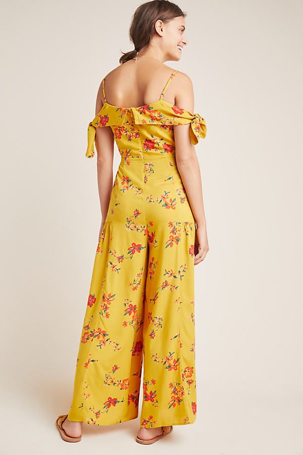 Plus Size Anthropologie Londonderry Jumpsuit in Gold Size: 24W, Women's Jumpsuits
