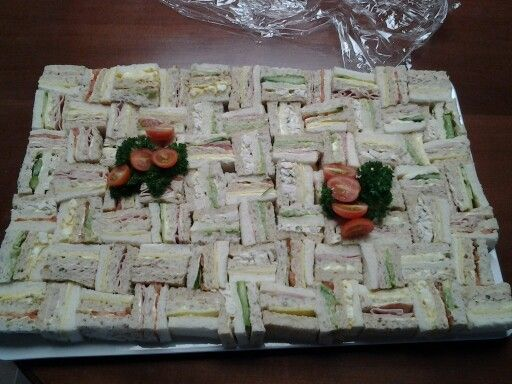 Assorted club sandwiches made by Kairti's Catering