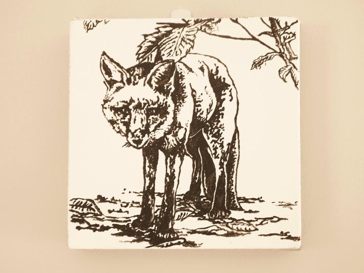 My fox painting, acrylic on canvas  200mm/200mm