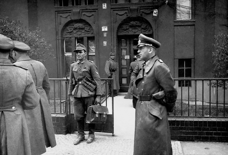 Infantry General Hans Krebs at Soviet HQ near Berlin on May 1, 1945. Krebs was there in an effort to negotiate the surrender of Berlin, but he was rebuffed by the Russians. Krebs, who had been appointed chief of the army on April 1st, 1945, returned to the Hitler bunker, where the Fuehrer had already committed suicide, and shot himself to death the following day, May 2, 1945.
