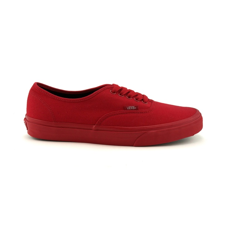 all red classic vans with blue