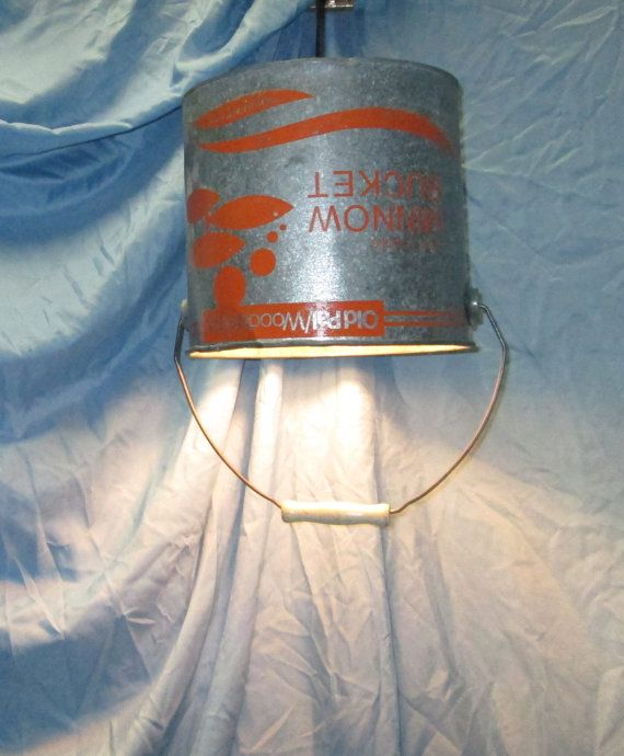Minnow bucket pendant light upcycled lighting farm by UpReNew, $52.95