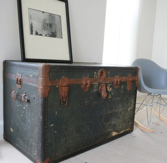 SALE Coffee Table Steamer Trunk Very Large By
