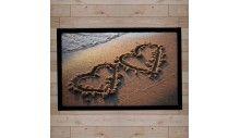 paillasson décor coeur plage
