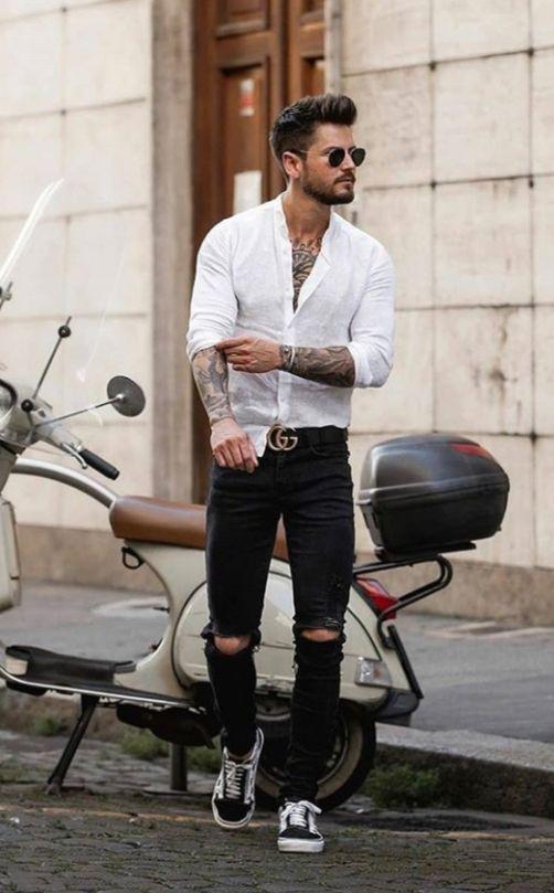 Cómo Combinar Camisas Blancas Aufloria En 2019 Combinar