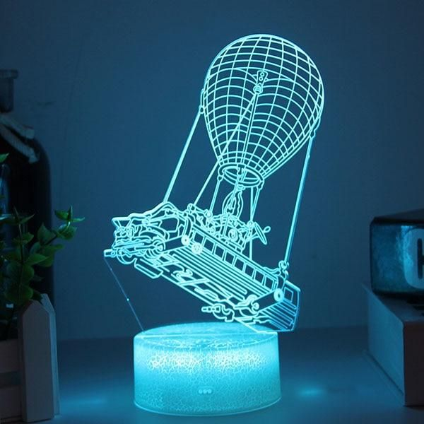 3d Hologram Illusion Table Featuring Fortnite S Battle Bus Led Night Light 3d Hologram Illusions