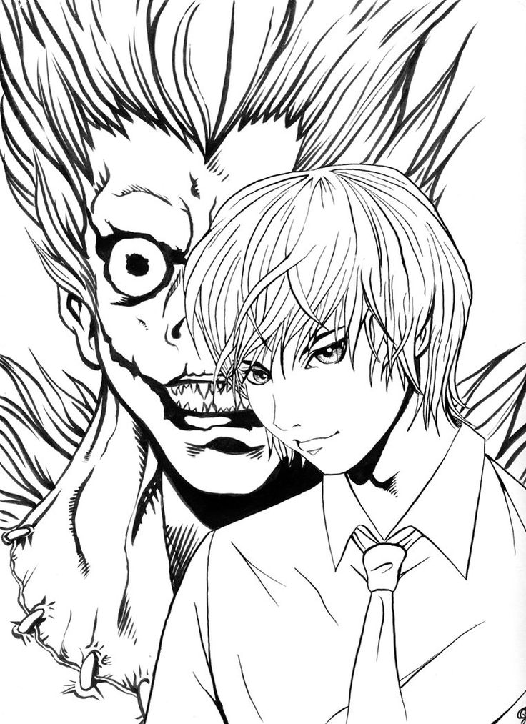 deathnote coloring pages - photo#1