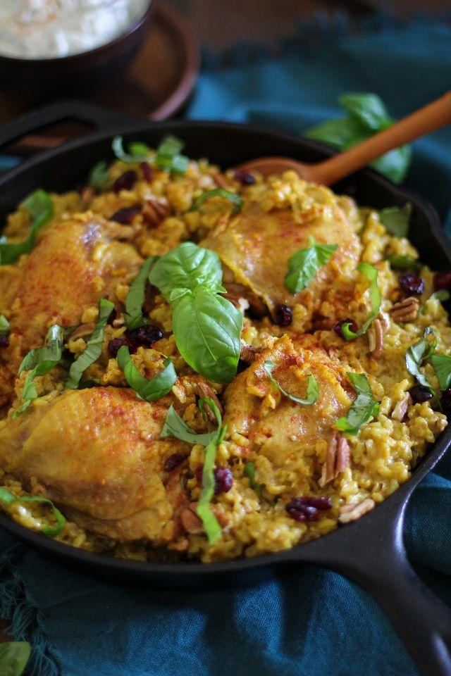 One-Pot Chicken Biryani - a healthy and filling paleo meal | TheRoastedRoot.net #recipe #glutenfree #dinner