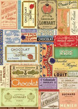 Cavallini Chocolat Français Wrapping Paper