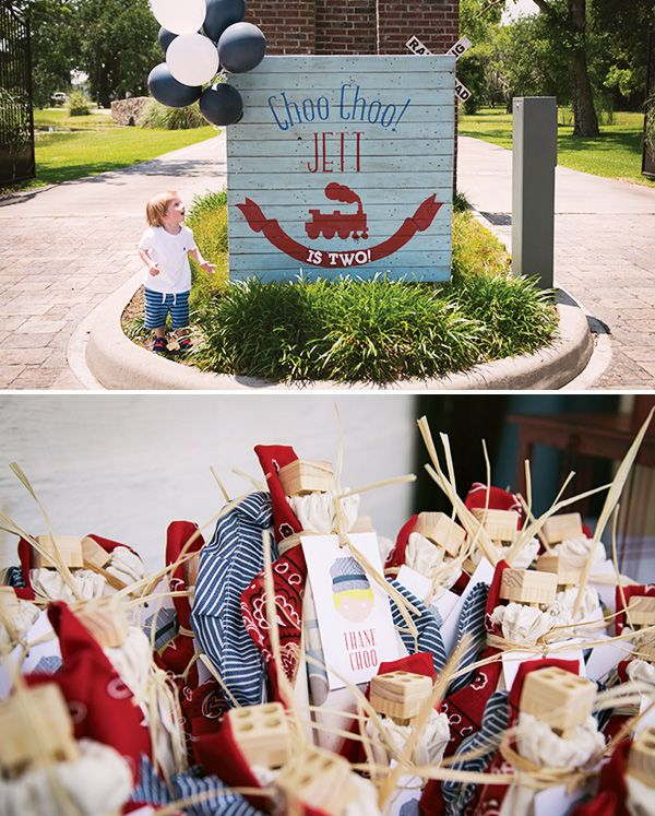 Vintage Train Birthday Party {Red, Blue  Choo Choo!}