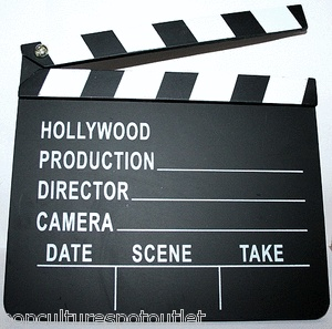Movie Film Director's Slateboard Clapper Production Prop