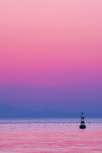 薄暮の夕焼け(瀬戸の海)