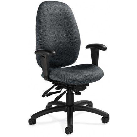Global Malaga 3140-3 High Back Multi Tilter Chair - Drama - Grey D801 FREE Shipping in Canada at Ugoburo.ca!
