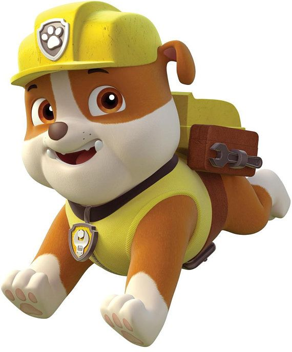 Paw Patrol Rubble Iron on Transfer