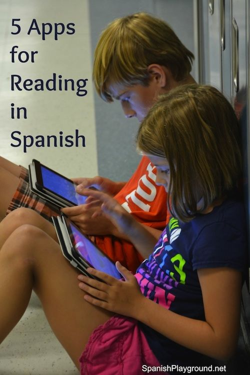Reading in Spanish with five fun apps! Apps for iPad and iPhone that use audio, syllable games, images and stories to improve Spanish reading skills.
