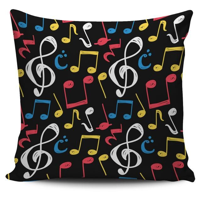 Shop Now: Music Notes Symbols Pillow is available in my store ✨ http://oompah.shop/products/music-notes-symbols-pillow