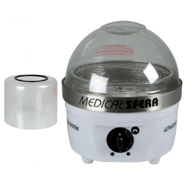 Αποστειρωτής με ψυχρό ατμό MEDICAL SFERA.   Πρωτοποριακός θάλαμος αποστείρωσης που λειτουργεί με υπέρηχους και τη βοήθεια ψυχρού βακτηριοκτόνου υγρού.  Aποστειρώνει αποτελεσματικά τα εξαρτήματα και τα εργαλεία του μανικιούρ/πεντικιούρ - ακόμη και εκείνα που το υλικό κατασκευής τους δεν αντέχει στις υψηλές θερμοκρασίες. Απολύμανση εργαλείων σε 1-3 λεπτά,τα πορώδη αντικείμενα σε 4 λεπτά.  http://www.beautymark.gr/   418,50 € με Φ.Π.Α.