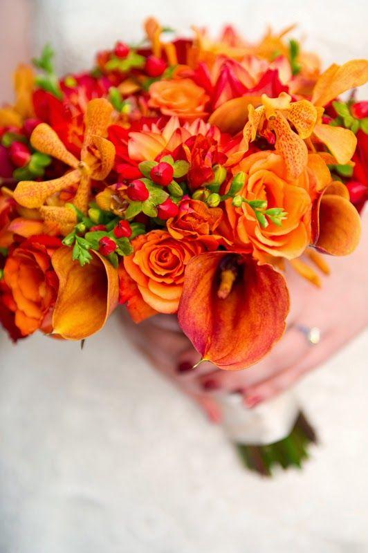 Unique Flowers For Your Orange Wedding - Wedding Bouquet | http://simpleweddingstuff.blogspot.com/2014/08/unique-flowers-for-your-orange-wedding.html
