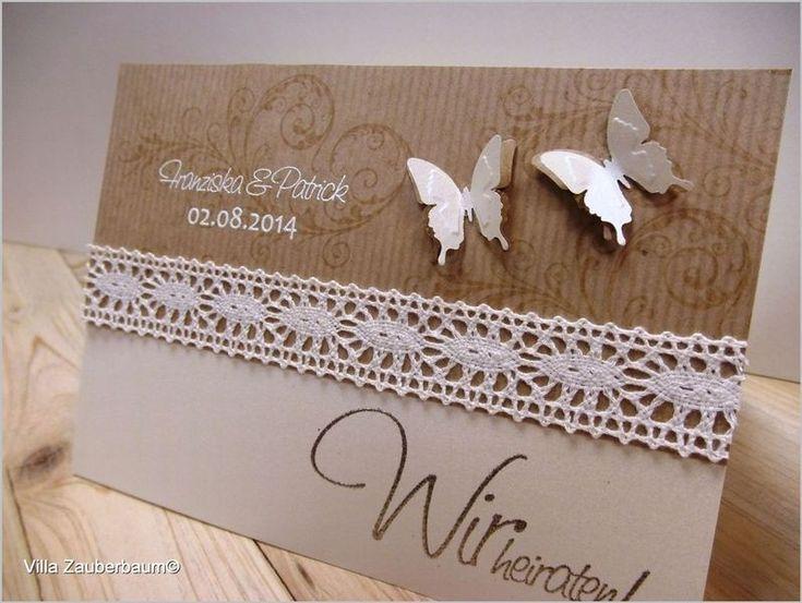 Musterkarte+Hochzeitseinladung+Vintage+Butterfly+von+Villa+Zauberbaum+auf+DaWanda.com