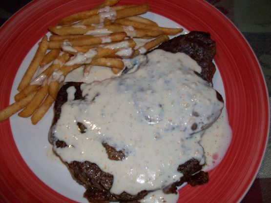 Sirloin Steak With Blue Cheese Sauce Recipe - Food.com