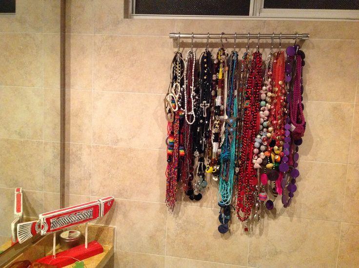 Colgador de collares barra de toalla con ganchos - Colgador de collares ...